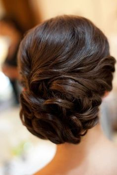 Wedding Side Bun for Medium Hair