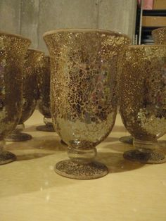 Ruffled® | See ads - 10 mosaic gold vases - Everything Floral Gold!!! Same design too!