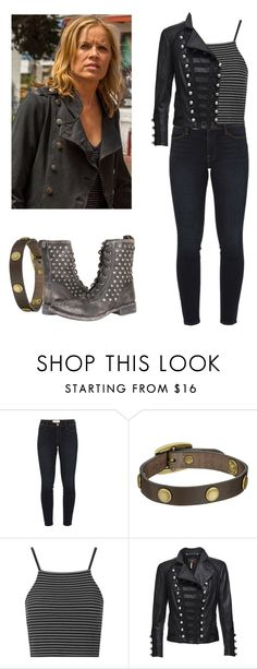 """Madison Clark - ftwd / fear the walking dead"" by shadyannon ❤ liked on Polyvore featuring Frame Denim, Frye, Topshop and Benedetta Novi"