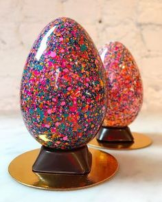 Fabulous colors! Chocolate Easter eggs from Stick with Me Sweets in New York City