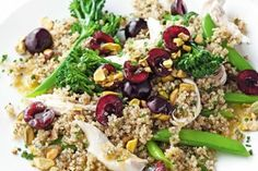 Chicken, broccolini and quinoa salad