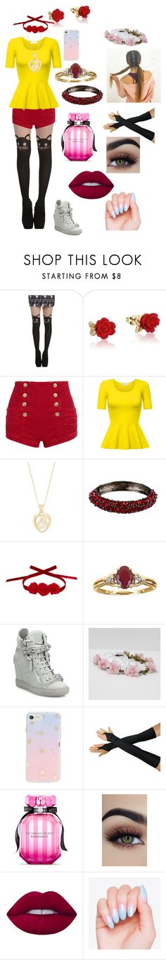 """""""Untitled #11"""" by alvina-brien ❤ liked on Polyvore featuring Hot Topic, Disney, Pierre Balmain, Kenneth Jay Lane, Vjera Vilicnik, Anika and August, Giuseppe Zanotti, Sonix, Victoria's Secret and Lime Crime"""