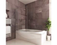 Bathtubs And Showers | Double Square Shower Bath Screen | Fixed and Pivot Bath Screens ...