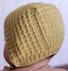 Baby Knitting Patterns Knitting Pattern for Easy Astrid Baby Bonnet – The easy Astrid textured bonnet design was inspired b… Baby Knitting Patterns, Baby Hat Patterns, Baby Hats Knitting, Knitted Hats, Crochet Patterns, Baby Bonnet Pattern, Crochet Baby Bonnet, Knit Crochet, Beanie Pattern