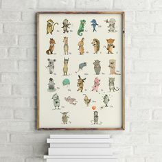 This is my ABC in German,  The print is reproduced from an illustration by me, Paola Zakimi This is a print at this size. Each print is signed  Measures 30x42cm cm  After testing with several...