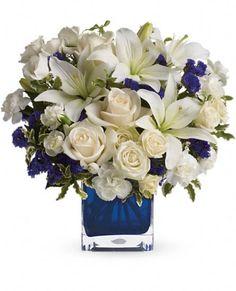 Teleflora's Sapphire Skies Bouquet Flowers, Teleflora's Sapphire Skies Flower Bouquet - Teleflora.com