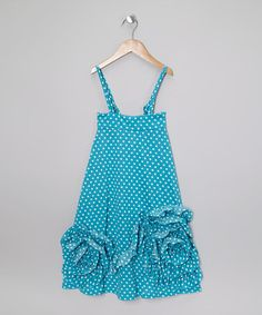 Save Now on this Blue Polka Dot Maxi Dress - Toddler & Girls by Pixie Girls on #zulily today!