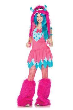 Pink 2 PC Mischief Monster Juniors Costume @ Amiclubwear costume Online Store,sexy costume,women's costume,christmas costumes,adult christmas costumes,santa claus costumes,fancy dress costumes,halloween costumes,halloween costume ideas,pirate costume,dan