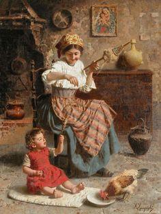 Eugenio Zampighi (1859-1944) ~ Итальянский художник