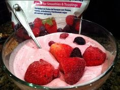 Healthy Frozen Berry Protein Yogurt Recipe by Lean Body Lifestyle
