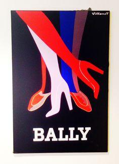 Vintage Bally poster