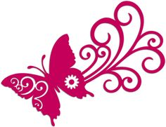 Silhouette Design Store - View Design #6600: butterfly swoosh