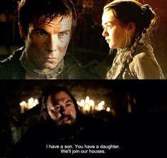 yeaaaaaaaaaah exactlyyyyyyy i knew that he meant them :D .. ARYA AND GENDRY <3