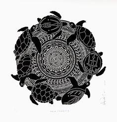 Malu Mandala II - Brian Robinson - Linocut from one block - BR008 - Aboriginal and Torres Strait Islander Art Prints