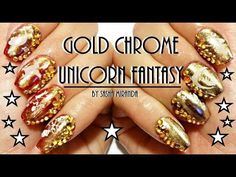 ☆Gold Chrome Unicorn Fantasy☆
