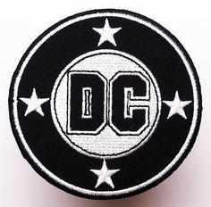 DC COMICS Company / Movie Classic Logo - Iron-On Embroidered Patch - NEW