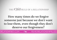 The #360 Rule of a Relationship