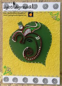 My craft work: Diwali card