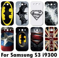 fashional stylish mobile phone case for Samsung galaxy S3 i9300 Superman superman logo batman cell phone case