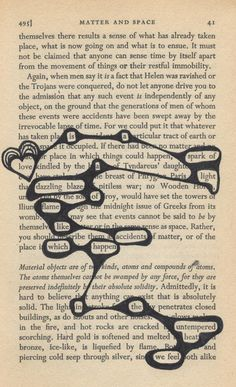 create your own gothic love poetry from old book pages as a unique and special valentine or christmas gift Found poetry. This is fabulous, use old books or photocopy book pages. Poetry and art and no two will be the same. Blackout Poetry, Pintura Graffiti, Found Poetry, Poetry Art, Poetry Quotes, Writing Poetry, Old Books, Art Plastique, Altered Books