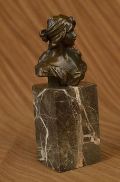 Sculpture: #FreeShipping Real Bronze Metal Bust Elegant Victorian Female Lady Classic Estate Girl Décor
