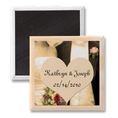 Wedding Favors Personalized Magnet