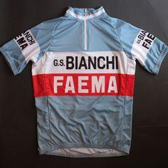 Bianchi Faema Short Sleeve Cycling Jersey