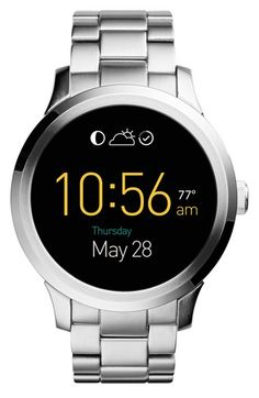 Free shipping and returns on Fossil 'Fossil Q - Founder' Round Bracelet Smart Watch, 47mm at Nordstrom.com. A refined steel case houses an advanced smart watch that combines modern functionality with classic good looks. The touchscreenwatch uses Intel Innovation® technology to trackeverything from steps to calories and connects seamlessly to your compatibleAndroid deviceor iPhone. A coordinating three-link bracelet completes the handsome design.
