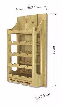 adega de parede de madeira para vinhos 15 garrafas e 6 taças #woodworkingprojects