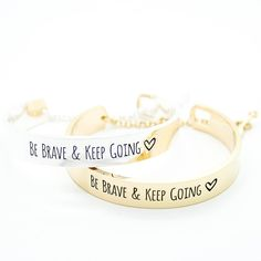 Be Brave bracelet – Imsmistyle. Either colour is cool :)