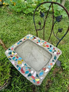 homemade cement bird bath