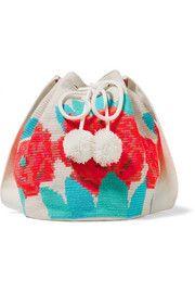 Lilla bolsa de ombro de algodão de malha