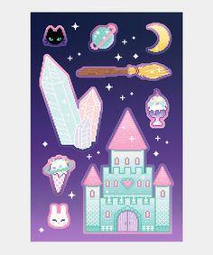 Galactic Castle sticker sheet – Hey Chickadee