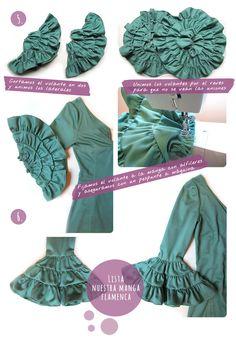 manga vestido flamenca 4 Parte II. Cómo hacer las mangas de un vestido de flamenca