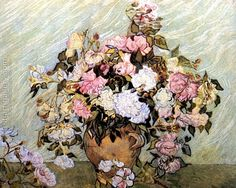 Still Life Vase with Roses Vincent Van Gogh Reproduction | 1st Art Gallery