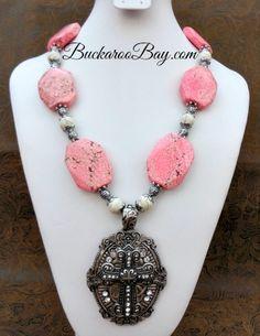 Cotton Candy Cowgirl Necklace A Buckaroo Bay Original! Buckaroo Bay Cowgirl Jewelry Western Accessories