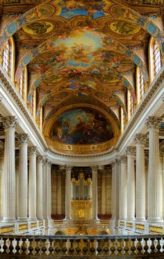 The Chapel Royal at Versailles a wonder, one of the best examples of baroque architecture in France.