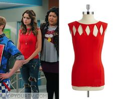 Austin & Ally: Season 4 Episode 4 Ally's Red Cut Out Top