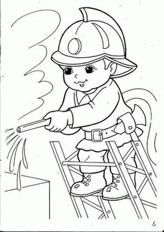 Image may contain drawing is part of Preschool coloring pages - Preschool Coloring Pages, Printable Coloring Pages, Coloring For Kids, Coloring Pages For Kids, Coloring Sheets, Coloring Books, Drawing Lessons For Kids, Art Drawings For Kids, Fireman Quilt