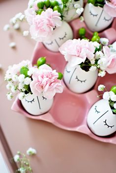 DIY WHIMSY ILLUSTRATED EGGSHELL CENTERPIECE