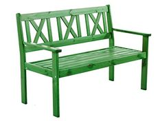 Ambientehome 90416 - Banco de madera maciza banco de jardín evje banco de madera banco de 1,2 metros de nuevo color verde incl. sitzkissen - http://vivahogar.net/oferta/ambientehome-90416-banco-de-madera-maciza-banco-de-jardin-evje-banco-de-madera-banco-de-12-metros-de-nuevo-color-verde-incl-sitzkissen/ -