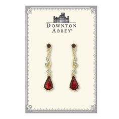 $30+ FREE S/H!! from #TheSingingSpaniel's #BridalGifts and #Jewellery - #Downton #Abbey® #Ruby #Red and #Diamond-Like #Crystal #Linear #Gold Tone #Earrings | #Dramatic #Friction #Post #Edwardian #Drop #Dangle | #Memento #Cute #Long | #Belle #Epoque #Statement | from #1928Jewelry - #unique #design! - #Decadent #Beautiful #Bridal #Gift #pretty #princess #costume #night #beautiful #royalty #elegant #formal #women's #style - #Nickel #Free and #Made in #USA!
