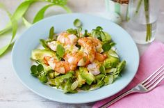 Avocado and Prawn Salad with a Tarragon Dressing and a 'scattering' of Lemon Crumbs // Via http://thelowcarbdiabetic.blogspot.com // #avocado #prawn #salad #recipe
