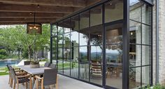 Steel Windows & Doors: A Big Part of Contemporary Architecture Steel Windows, Steel Doors, Windows And Doors, Iron Windows, Urban House, Exterior Design, Interior And Exterior, Mediterranean Homes, Outdoor Living