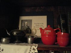 Ty-phoo Tea for Two (very unusual Red teapot...hard to make is my understanding)_from http://www.typhootea.com/typhoo-beginings.html
