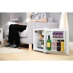 Mini Table Top Fridge Portable Bedroom Compact White Counter Small Drinks Cooler