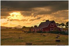 Barns in the middle of nowhere.. perfection