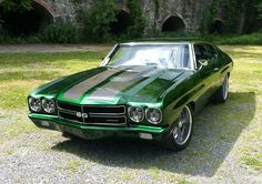 """Thumbs Up For Josh Munson's 1970 Chevrolet Chevelle? """"498 Stroker 640 HP on pump gas. Tremec TKO 600, McLeod twin disc clutch, Baer Brakes, Currie rear arms, Fays 2 Watts link, Trutrac rear Diff, Hellwig sawybars, SPC front arms, AFX tall aluminum spindles, QA1 Shocks, all attached to a reworked frame. Billet specialties 18 and 20 inch Wheels, Carbon fiber hood and trunk, Roll cage, custom built sheet metal interior with Scat procar seats, autometer gauges, most of which came from JEGS!!""""…"""
