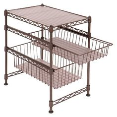 Seville Mini Stackable Cabinet Organizer - bronze : Target