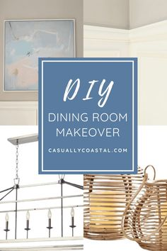 Check out this dining room makeover, which includes a new dining room light fixture, beautiful abstract art and DIY wall molding. Click for the tablescape decor sources and to read about this dining room makeover. #diyhomedecor #diywalldecor #wallmolding #wallmoldingideas #diy
